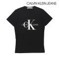 NEW!6/18入荷[カルバンクラインジーンズ]CALVIN KLEIN JEANS Tシャツ(ブラック) CK-368
