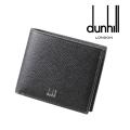 NEW!1/10入荷2020春夏モデル[ダンヒル] DUNHILL 二つ折り財布(小銭入れ付き)ブラック DH-178