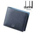 NEW!1/10入荷2020春夏モデル[ダンヒル] DUNHILL 二つ折り財布(小銭入れ付き)ブルー DH-179