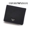 [エンポリオ・アルマーニ]EMPORIO ARMANI 二つ折り財布(小銭入れ付き)ブラック EA-169