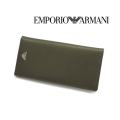 [エンポリオ・アルマーニ]EMPORIO ARMANI 長財布(小銭入れ付き)カーキグリーン EA-171