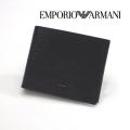 [エンポリオ・アルマーニ]EMPORIO ARMANI 二つ折り財布(小銭入れ付き)ブラック EA-176