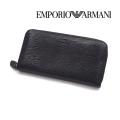 [エンポリオ・アルマーニ]EMPORIO ARMANI ラウンドファスナー長財布(小銭入れ付き)ブラック EA-178