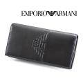 2018春夏モデル[エンポリオ・アルマーニ]EMPORIO ARMANI 長財布(小銭入れ付き)ブラック EA-194