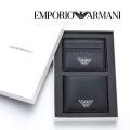 NEW!10/25入荷2019秋冬モデル[エンポリオ・アルマーニ]EMPORIO ARMANI 二つ折り財布(小銭入れなし)&カードケースセット EA-232