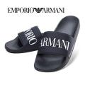 NEW!6/23入荷[エンポリオ・アルマーニ]EMPORIO ARMANI シャワーサンダル(ブラック) EA-238