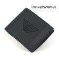 NEW!10/23入荷2020秋冬モデル[エンポリオ・アルマーニ]EMPORIO ARMANI 二つ折り財布(小銭入れ付き)ブラック EA-243