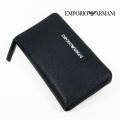 NEW!3/17入荷2021春夏モデル[エンポリオ・アルマーニ]EMPORIO ARMANI ラウンドファスナー長財布(小銭入れ付き)ブラック EA-273