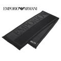 NEW!10/16入荷2020秋冬モデル[エンポリオ・アルマーニ]EMPORIO ARMANI ウールマフラー(ブラック×グレー) EA-371