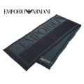 NEW!10/16入荷2020秋冬モデル[エンポリオ・アルマーニ]EMPORIO ARMANI ウールマフラー(ネイビー×グリーン) EA-372