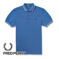NEW!4/12入荷[フレッドペリー]FREDPERRY ポロシャツ(ブルー×ホワイト×ネイビー) FP-091