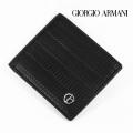 NEW!2/26入荷2021春夏モデル[ジョルジオ・アルマーニ]GIORGIO ARMANI 二つ折り財布(小銭入れなし)ブラック GA-072