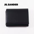 NEW!2/5入荷[ジルサンダー]JIL SANDER 三つ折り財布(小銭入れ付き)ブラック JI-002