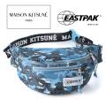 NEW!6/7入荷[メゾンキツネ×イーストパック]MAISON KITSUNE×EASTPAK ボディバッグ (ブルーカモフラ) MK-010