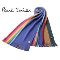 NEW!7/22再入荷[ポールスミス]PAUL SMITH ウールマフラー(ネイビー系マルチ) PS-423N