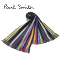 NEW!11/20入荷2020秋冬モデル[ポールスミス]PAUL SMITH ウールマフラー(グレー系マルチ) PS-682