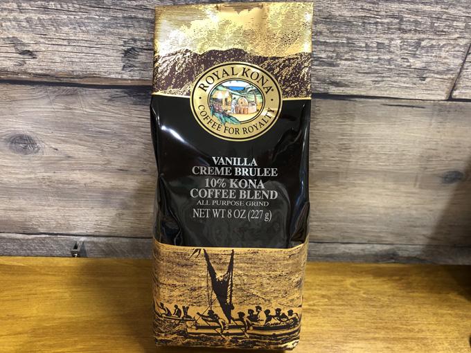 【ROYAL KONA】ロイヤルコナコーヒー バニラクリームブリュレ 227g(10%コナブレンド)