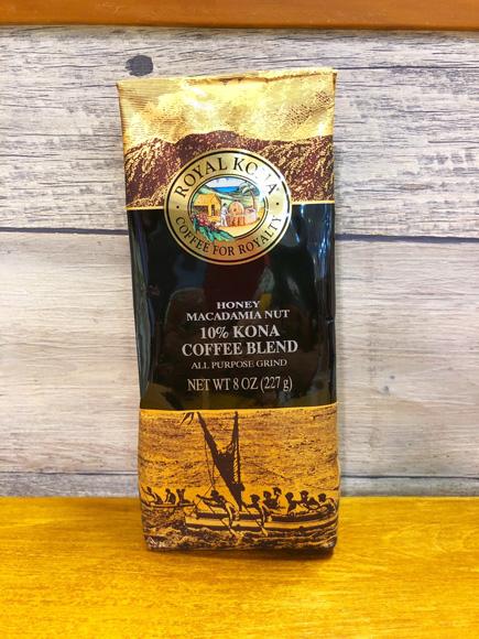 【ROYAL KONA】ロイヤルコナコーヒー ハニーマカダミアナッツ  227g (10%コナブレンド)