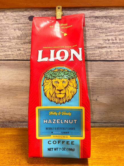 【LION COFFEE】 ライオンコーヒー ライオンヘーゼルナッツ 198g