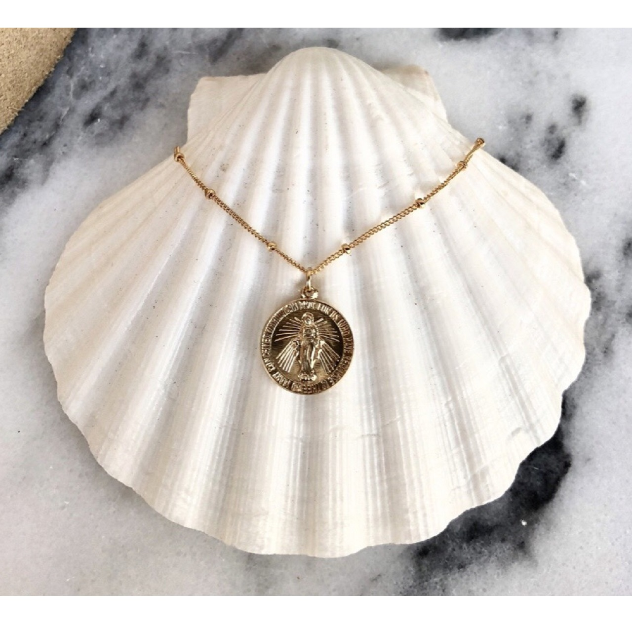 【Lily jewelry】14kgf メダイ コインネックレス