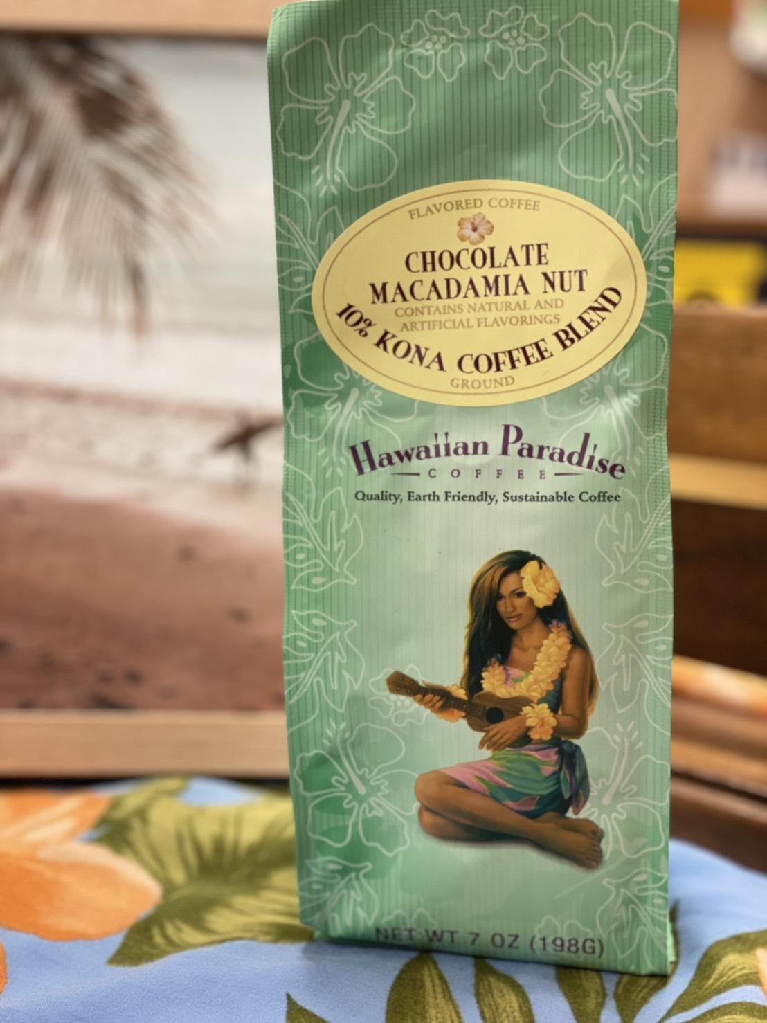 【Hawaiian Paradise Coffee】 ハワイアンパラダイスコーヒー チョコレートマカダミアナッツ  フレーバー198g
