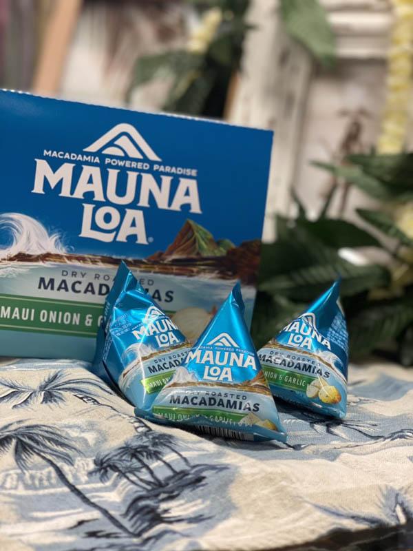 【MAUNA LOA】マウナロア マウイオニオン&ガーリックマカデミアナッツミニパック(14g)× 9袋