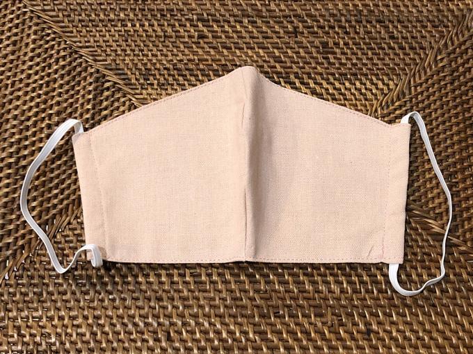 洗える リネン3層構造立体型マスク(ピンク) 男女兼用( 大人用)【メーカー正規販売店】【10枚までメール便配送可】