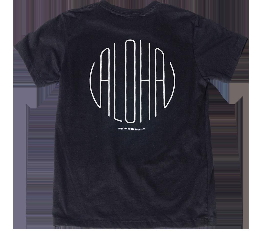 ハレイワTシャツ (レディース/ブラック)
