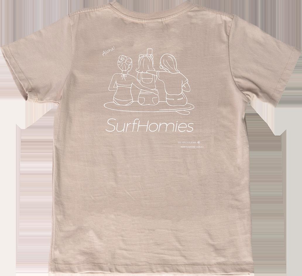 ハレイワTシャツ (レディース/ベージュ)