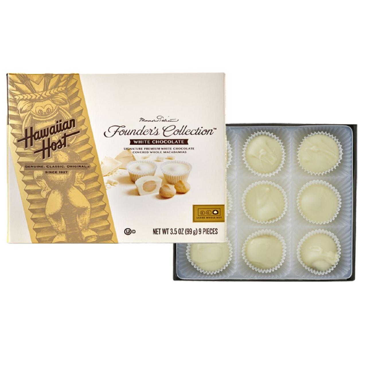 【Hawaiian Host】ホワイトチョコレート(9粒)(hhca011)