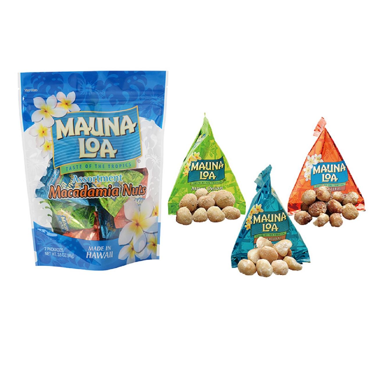 【MAUNA LOA】マウナロア マカデミアナッツミニアソートバッグ98g(hhca670ws)