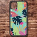 スマホケース アクリルケース iPhone 12シリーズ対応(Tropical Leaves)【メール便OK】