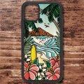 スマホケース ウッドケース iPhone 12シリーズ対応(Waikiki Rainbow)【メール便OK】