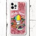 スマホケース グリッターケース iPhone 12シリーズ対応(Aloha Sweet)【メール便OK】