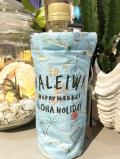 クラフト素材の保冷ボトルホルダー(水色)・【HAPPY HALEIWA MARKET】