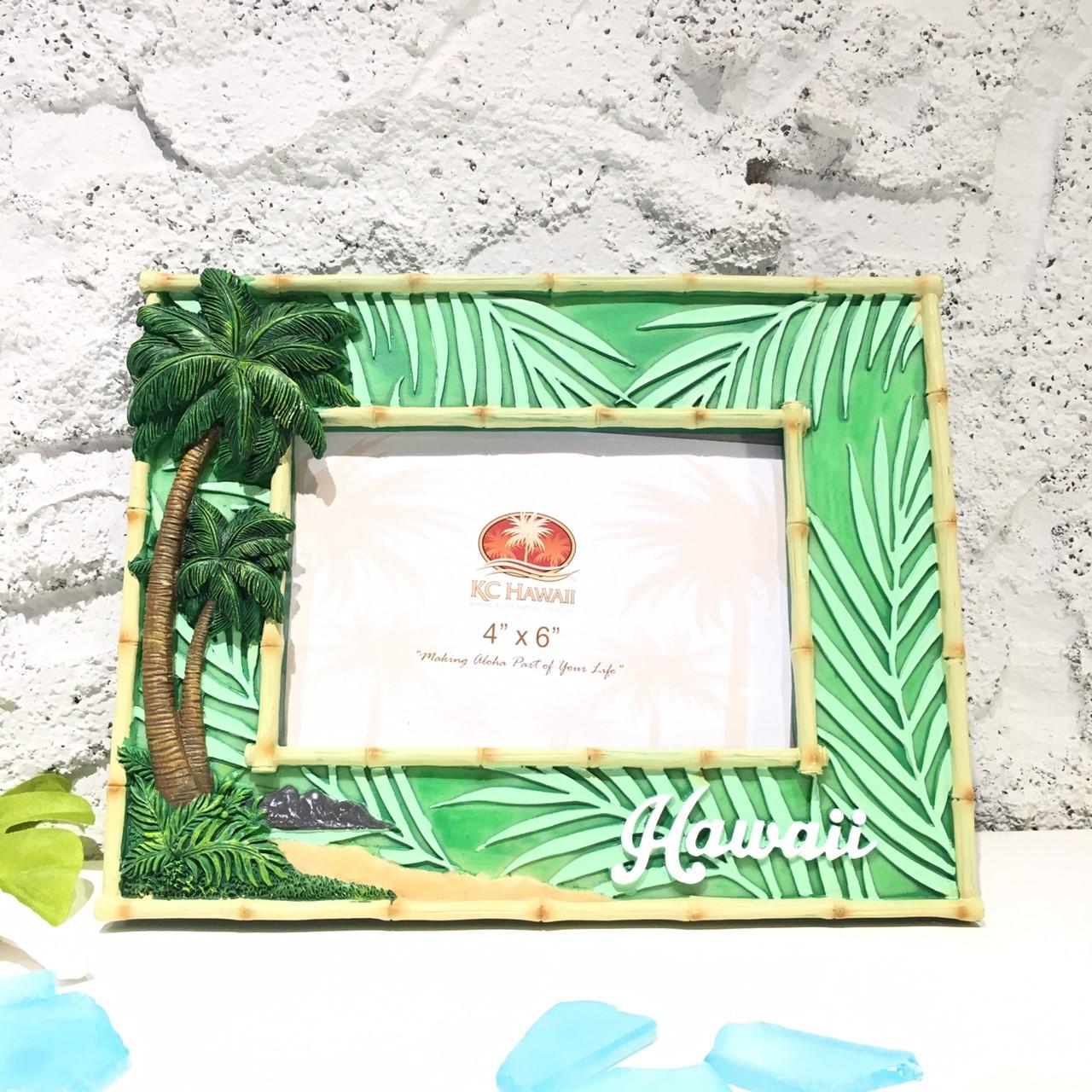 レジンハワイアンフォトフレームパームツリー【ハワイアン雑貨