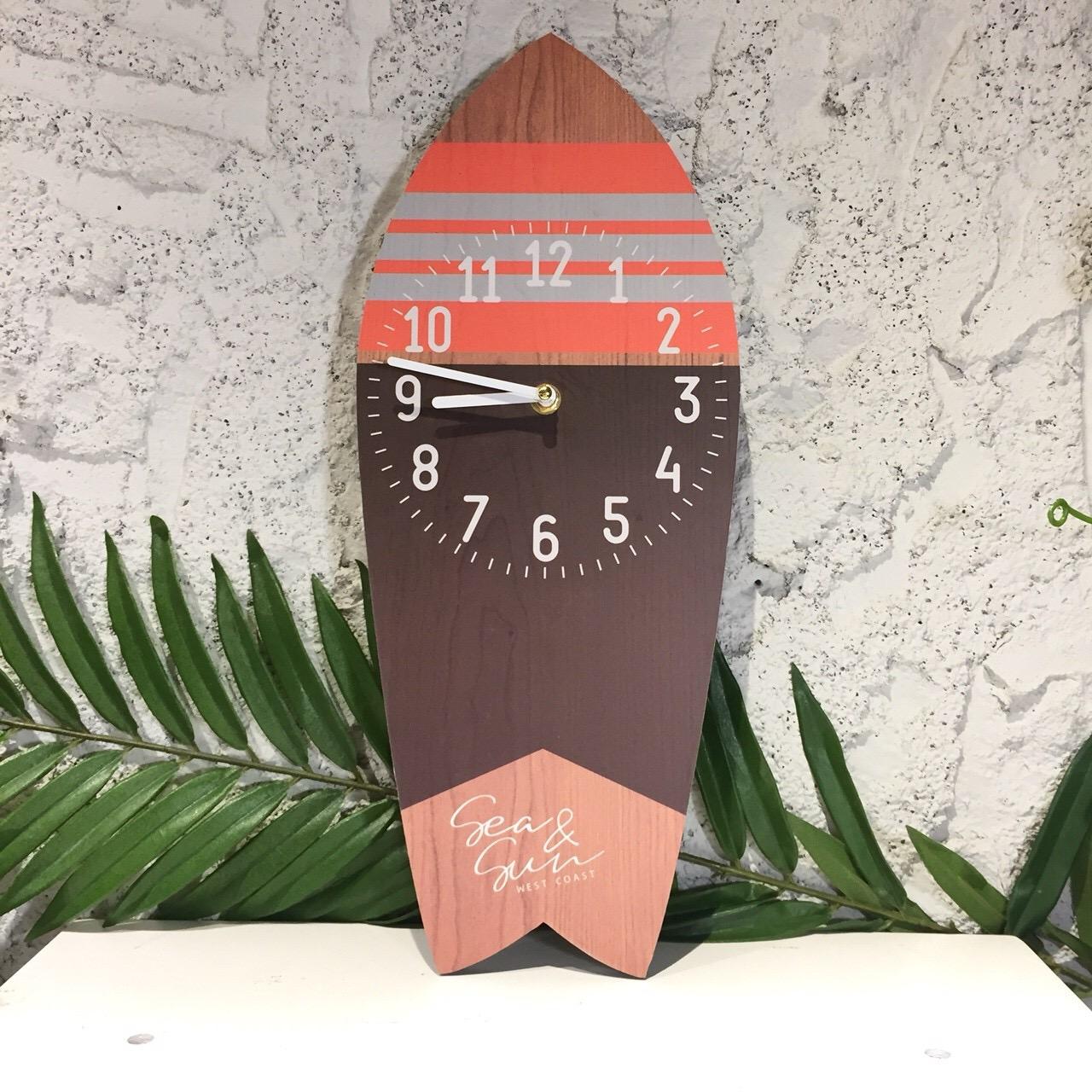 サーフボード型時計!【ハワイアンインテリア】