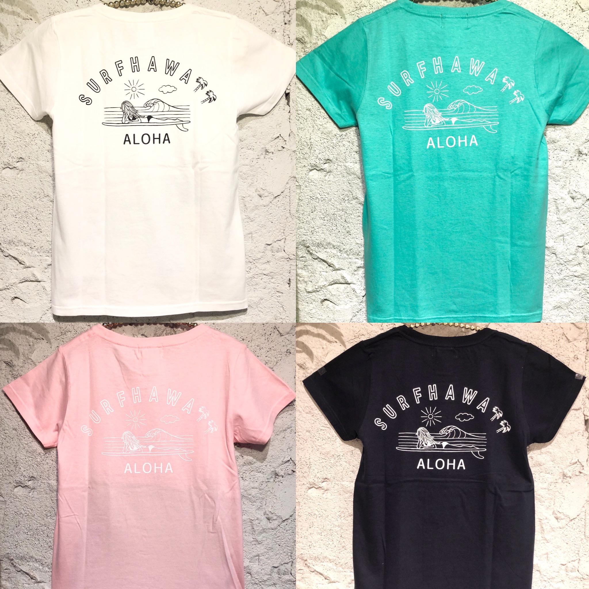 サーフハワイTシャツレディース/F【アロハラバーズ】