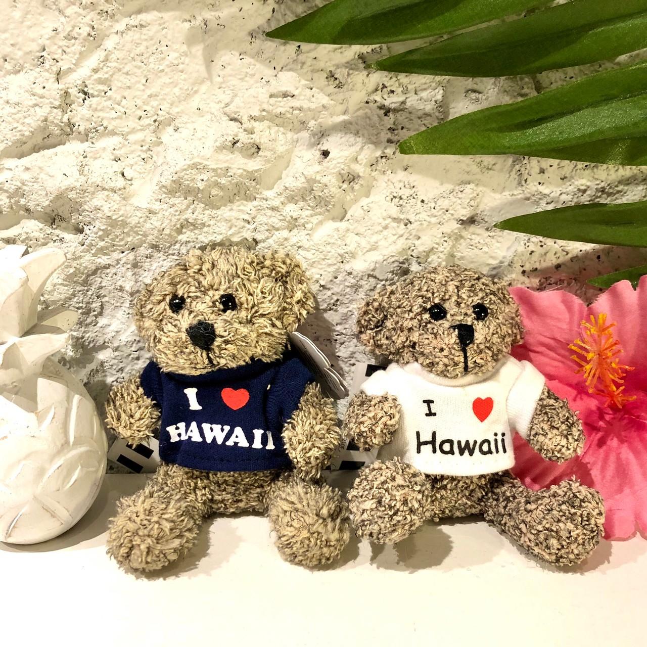 Hawaiiモフモフくまさんキーホルダー