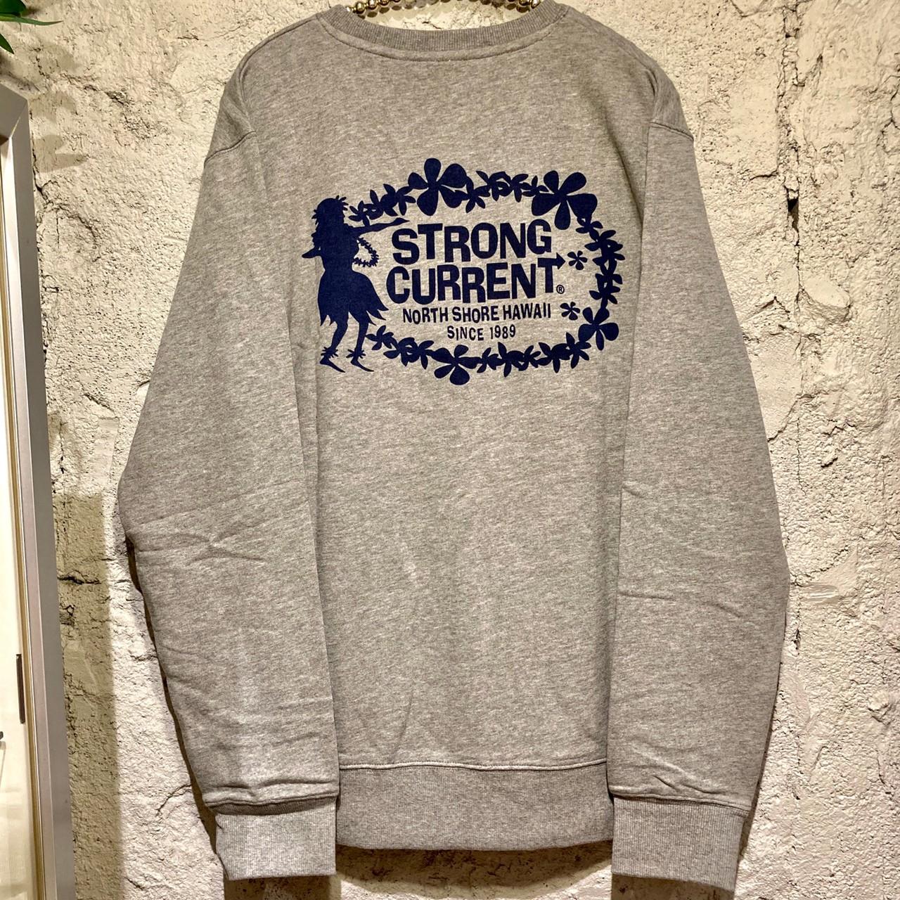 【ストロングカレント】メンズトレーナー/フラガール/GRY/M/L/XL