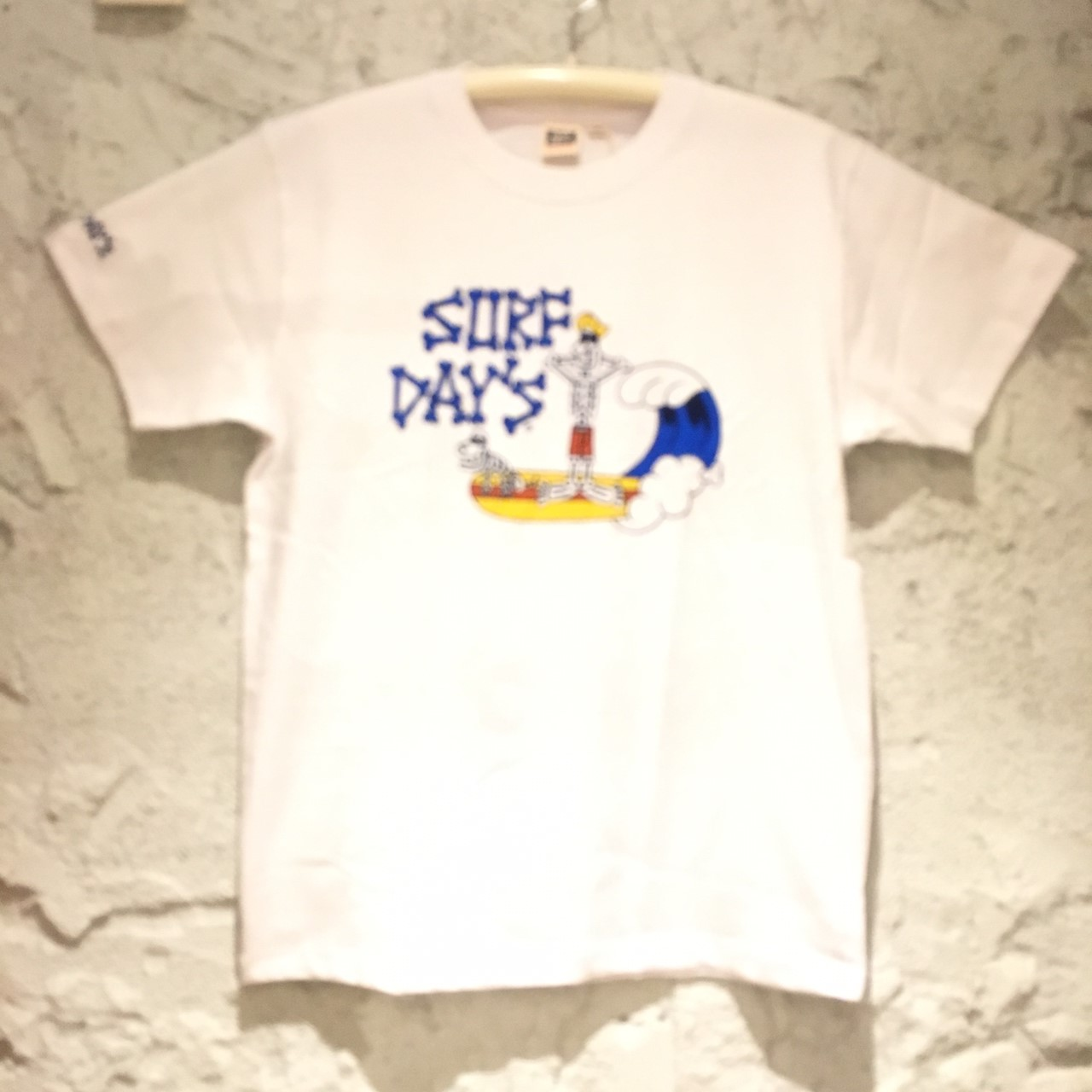 【SURF DAY'S】メンズ半袖Tee スカルsurfer WH/M/L/