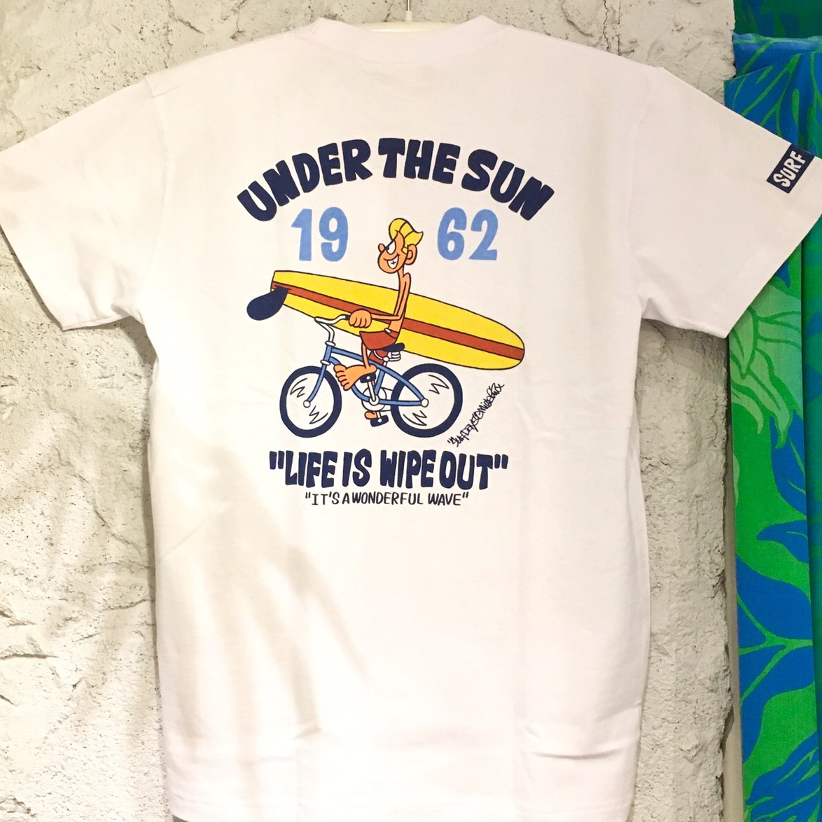 【SURF DAY'S】メンズ半袖Tee WIPEOUT WH/M/L/XL