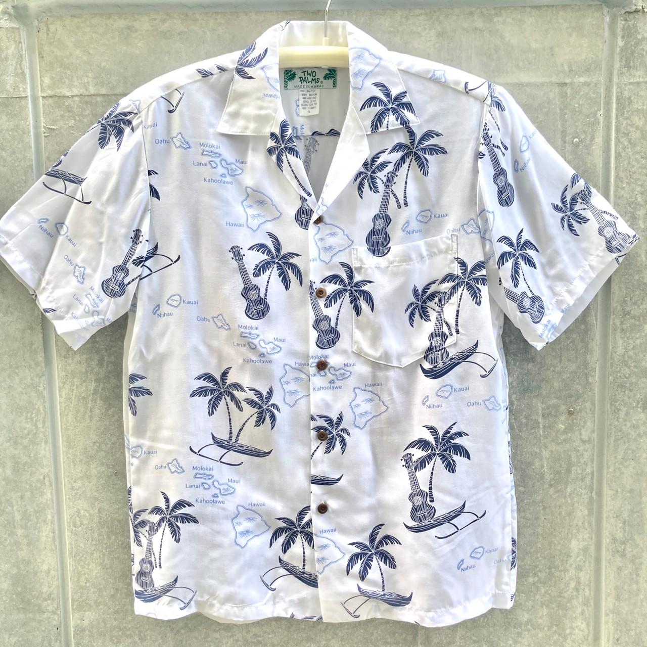 Mensアロハシャツ/Islands/ White・Cream・Navy