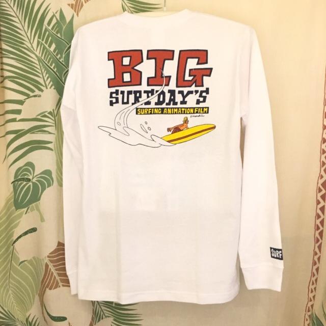 """【SURF DAY'S】メンズロンTee """"BIG""""WH/M/L/"""