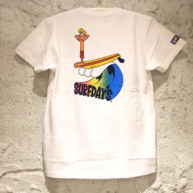 SALE【SURF DAY'S】メンズ半袖Tee wave WH/M/L/