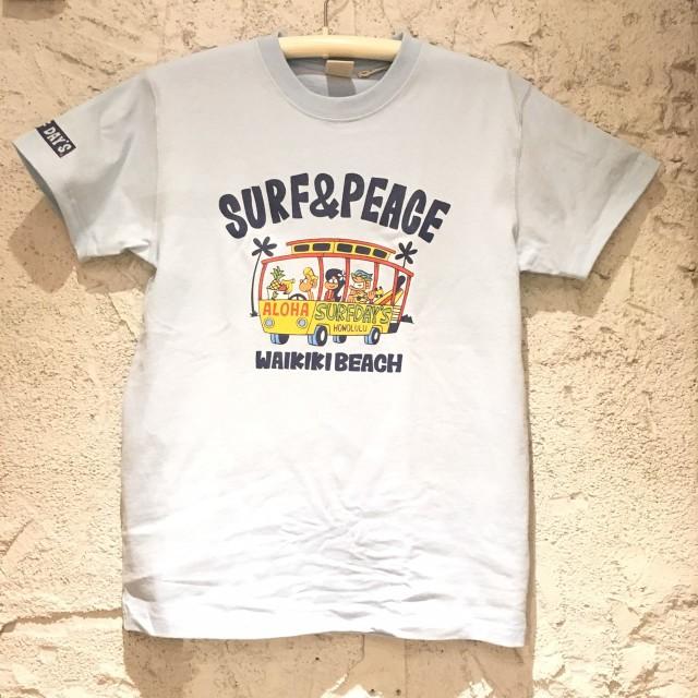 SALE【SURF DAY'S】メンズ半袖Tee ワイキキビーチSAX/M/L/