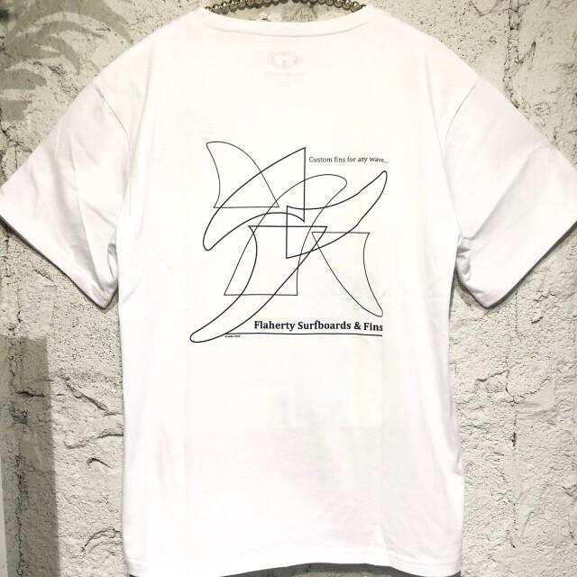マリブフィンパターン半袖Tee/WH