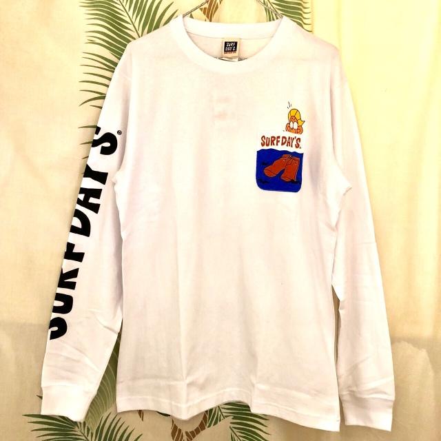 【SURF DAY'S】メンズロンTee ポケット WH/M/L/