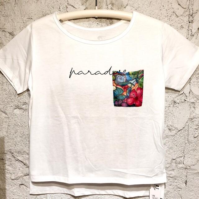 コリーンウィルコックス!ポケットアートTシャツレディース/F【アロハラバーズ】