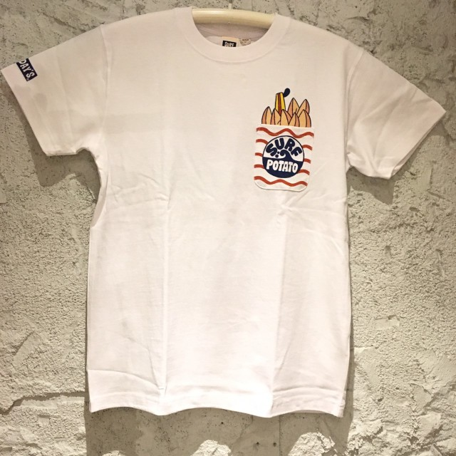 SALE【SURF DAY'S】メンズ半袖Tee ポテト WH/M/L/